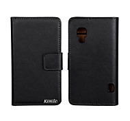 Kemile Genuine Leather Wallet Case for LG Optimus L5 II E460(Assorted Colors)
