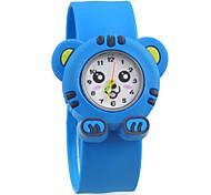 Boy's  Blue Dial Rubber Band  Quartz Wrist Watches
