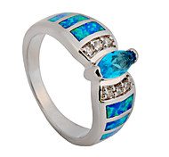 Ring 10KT White Gold Filled Zircon Sapphire Rings Fashion Jewelry