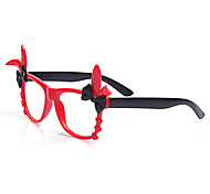 [Frame Only] Kids' Double Bow Rabbit Wayfarer Full-Rim Fashion Eyeglasses(Random Color)