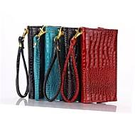 Available Crocodile Stripe Wallet Style  PU Leather Full Body Case with Strap  for 5.0 Inch Phone(Assorted Colors)