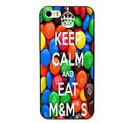 mantenere la calma e mangiare m&caso duro di disegno di m per iPhone 5 / 5s