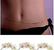 Sexy Bikini Love Waist Chain Body Chain