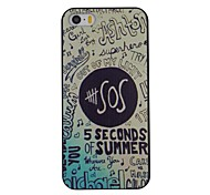 English Letters SOS Pattern PC Hard Back Cover Case for iPhone 5/5S