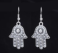 Cute Palm Silver Alloy Earrings (1 Pair)