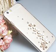 Fashion Diagonal Beautiful grass Case Bowknot Pattern Rhinestone Case for iPhone6