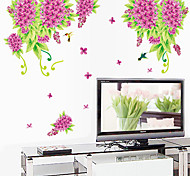 Removable Blossom Pattern PVC Stickers & Tapes