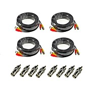 ANNKE® 4 Pack 100FT 30M Audio Video Power Security Camera Extension Cables with Bonus BNC RCA Connectors