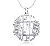 Fashion Style 925 Sterling Silver Jewelry Creative Face to Face Pendant Necklace for Women