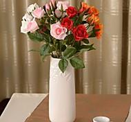 """19.2 """"l conjunto de um romântico 4 cabeças de rosas flores de pano de seda"""