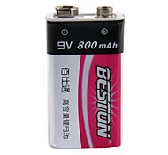Beston 9v 800mAh rechargeable de batterie Ni-MH