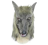 lobo cinzento máscara de látex para a festa de dia das bruxas (1 pc)