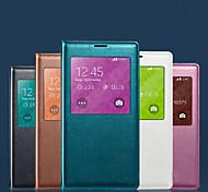 pantalla original visibles cuero de la PU chipset inteligente de auto-sueño y protector impermeable para Samsung Galaxy s5
