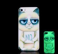 gato patrón resplandor en el caso duro para el iphone 5 oscuro / iphone 5 s