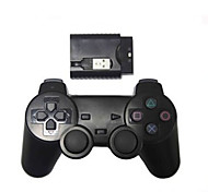 nuovo controller di gioco scossa wireless controller wireless ps2 / ps3 / pc (2.4GHz / nero)