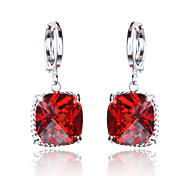 High Quality Fashionable Woman Square Diamonds Zircon Earrings