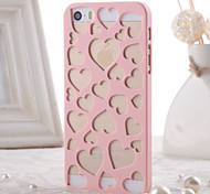 For iPhone 5 Case Embossed Case Back Cover Case Heart Hard PC iPhone SE/5s/5