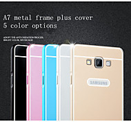 Monochrome Metal Frame Plus Cover Cell Phone Protective Cover for Samsung GALAXY A7