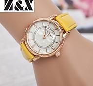 relógio de quartzo de diamantes vintage pulso cinto de couro analógico das mulheres (cores sortidas)