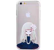 цветок серии сирень картина девушка ТПУ мягкий чехол для Iphone 6