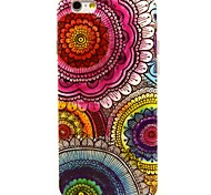 Fashion Design COCO FUN® Floral Tribal Pattern Soft TPU IMD Back Case Cover for iPhone 6 Plus