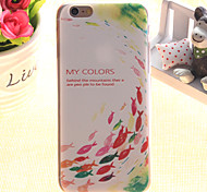 Fish Pattern TPU Relief Thin Transparent  All Inclusive Back Cover Case for iPhone 5/iPhone 5S
