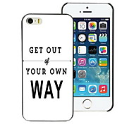 Get Out of You Own Way Design PC Hard Case for iPhone I4