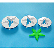 FOUR-C Big Calyx Cake Decorating Plunger Cutters, Fondant Sugarcraft Cutter,Fondant Tools Set