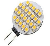 3W G4 Focos LED 24LED SMD 3528 500 lm Blanco Cálido / Blanco Fresco DC 12 V 1 pieza