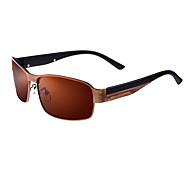 anti-reflexo óculos de sol da moda liga retângulo