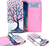 Colorful Tree Leather Wallet style Full Body Case and Card Slot for Iphone Mobile Size<13.8*7.6*2.1