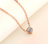 Fashion Romantic 316L Stainless Steel Rhinestone Charming Chain Pendant Necklace