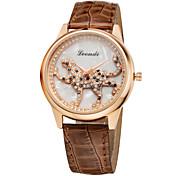 Newest Fashion Ladies Creative Leopard Crystal Diamond Rhinestone Watches Women Casual Students Dress Quartz Wristwatch