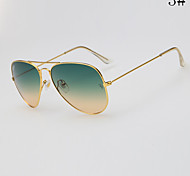 100%UV400 Fashion Gradient Aviator Sunglasses