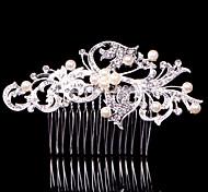 Alloy Hair Combs With Imitation Pearl/Rhinestone Headpiece