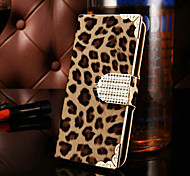 For Samsung Galaxy Case Wallet / Card Holder / Rhinestone / Flip Case Full Body Case Leopard Print PU Leather SamsungS7 edge / S7 / S6