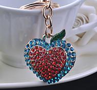 Drill Peach Heart Key Chain