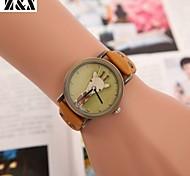 Women's Vintage Diamond Lovely Giraffe Quartz Analog Leather Belt Wrist Watch