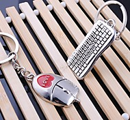 Zinc Alloy Keyboard & Mouse Shaped Key Chain (1 PS)