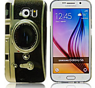 Hi-Q Vintage Camera Water Decals Pattern TPU Soft Case for Samsung Galaxy S6