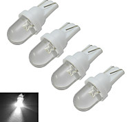 0.5W T10 Luces Decorativas 1 30-50lm lm Blanco Fresco DC 12 V 4 piezas