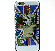 Puppy in Flag Pattern Hard Case for iPhone 6