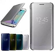 импорт высококачественной ПУ плюс бизнес-ПК гиперболического зеркала смарт-чехол для Samsung Galaxy s6 края
