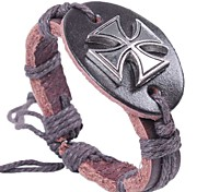 2015 Fashion Cross Leather Bracelet