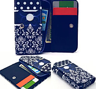 Button Leather Wallet style Full Body Case and Card Slot for Iphone Mobile Size<13.8*7.6*2.1
