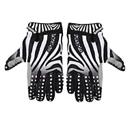 Cycling Bike Bicycle Anti-Slip Breathable Zebra lines Pattern Full-Finger Gloves Size(M/L/XL)