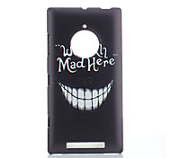 Magic Spider® Big Smile Pattern Plastic Protective Back Case with Screen Protector for Nokia Lumia 830