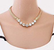 Fashion Women Alloy/Resin/Rhinestone Necklace Choker Necklaces Daily/Casual