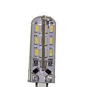 2W G4 LED a pannocchia T 24 SMD 3014 180-220 lm Bianco caldo / Luce fredda Decorativo AC 12 / DC 12 / AC 220-240 V