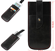 Solid Color Simply Style Genuine Leather Full Body Mobile Phone Bags with Buckle for iPhone 5s